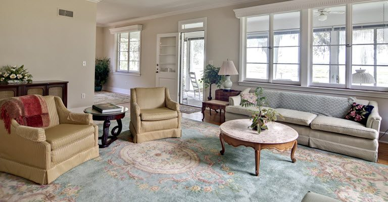 Bamboo Silk Rug in Living Room