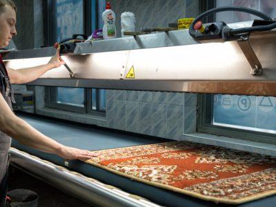Oriental Rug Stretching Process
