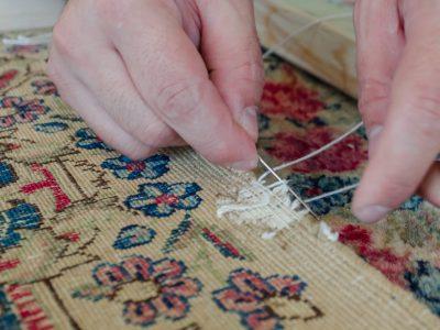 Persian Rug Overcasting