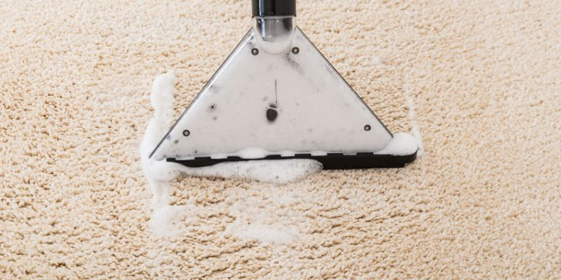 Steam Cleaner Over Wet Carpet