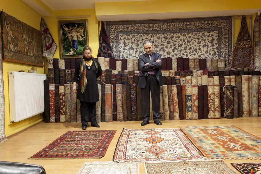 Oriental Rug in Store