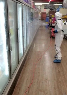 Supermarket disinfection